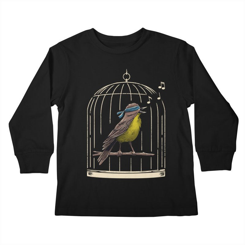 Follow the Birds Kids Longsleeve T-Shirt by vincenttrinidad's Artist Shop
