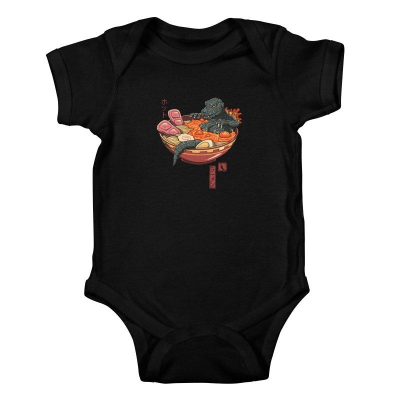 Spicy Lava Ramen King Kids Baby Bodysuit by vincenttrinidad's Artist Shop
