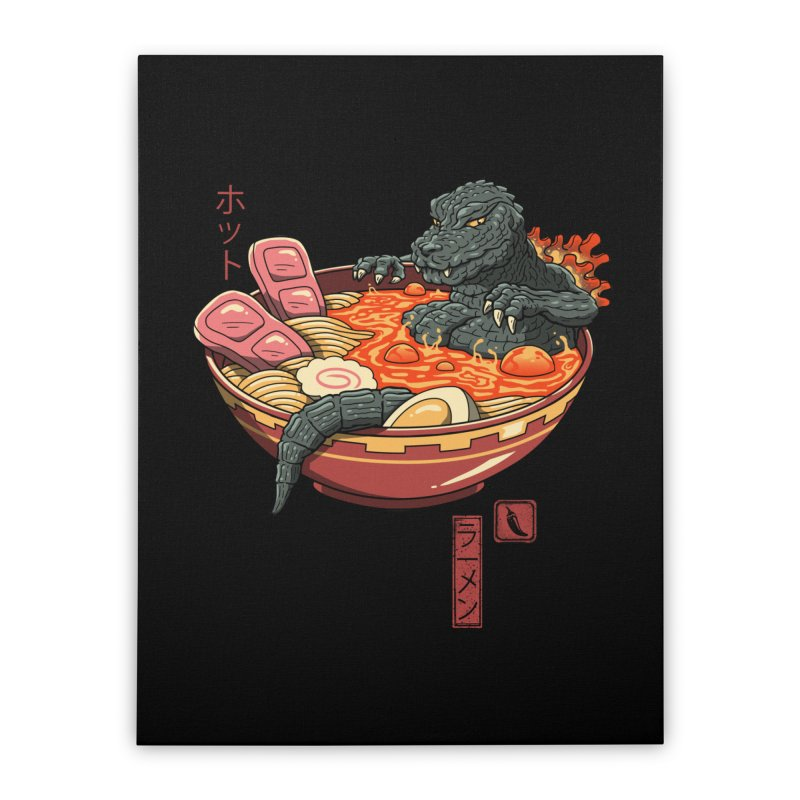 Spicy Lava Ramen King Home Stretched Canvas by vincenttrinidad's Artist Shop
