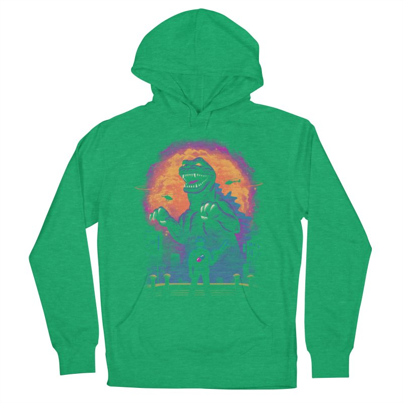 Showdown in Neo Tokyo Women's French Terry Pullover Hoody by vincenttrinidad's Artist Shop