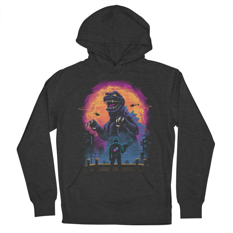 Showdown in Neo Tokyo Men's French Terry Pullover Hoody by vincenttrinidad's Artist Shop