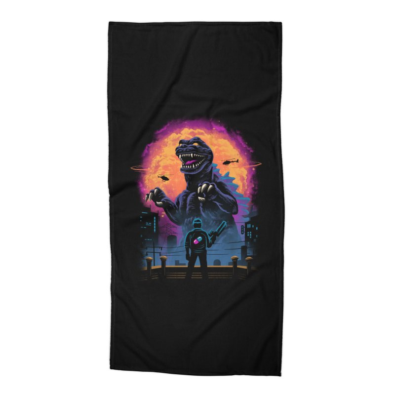 Showdown in Neo Tokyo Accessories Beach Towel by vincenttrinidad's Artist Shop