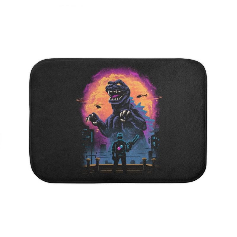 Showdown in Neo Tokyo Home Bath Mat by vincenttrinidad's Artist Shop