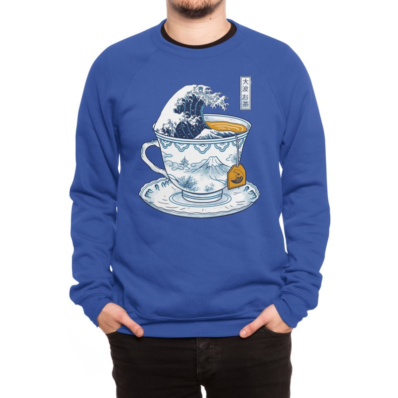 The Great Kanagawa Tee Men's Sweatshirt by Vincent Trinidad Art
