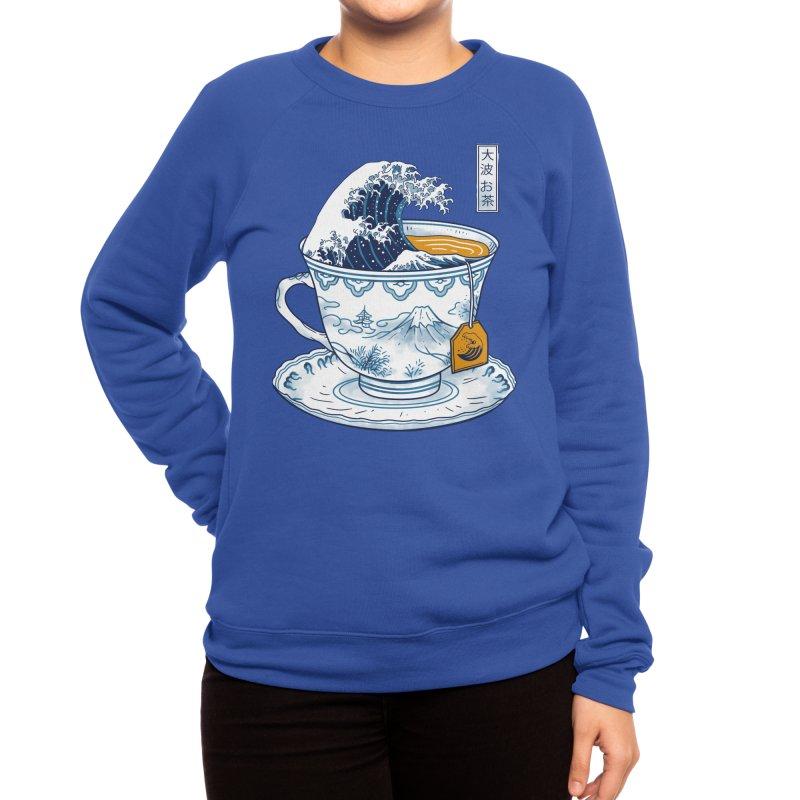 The Great Kanagawa Tee Women's Sweatshirt by Vincent Trinidad Art