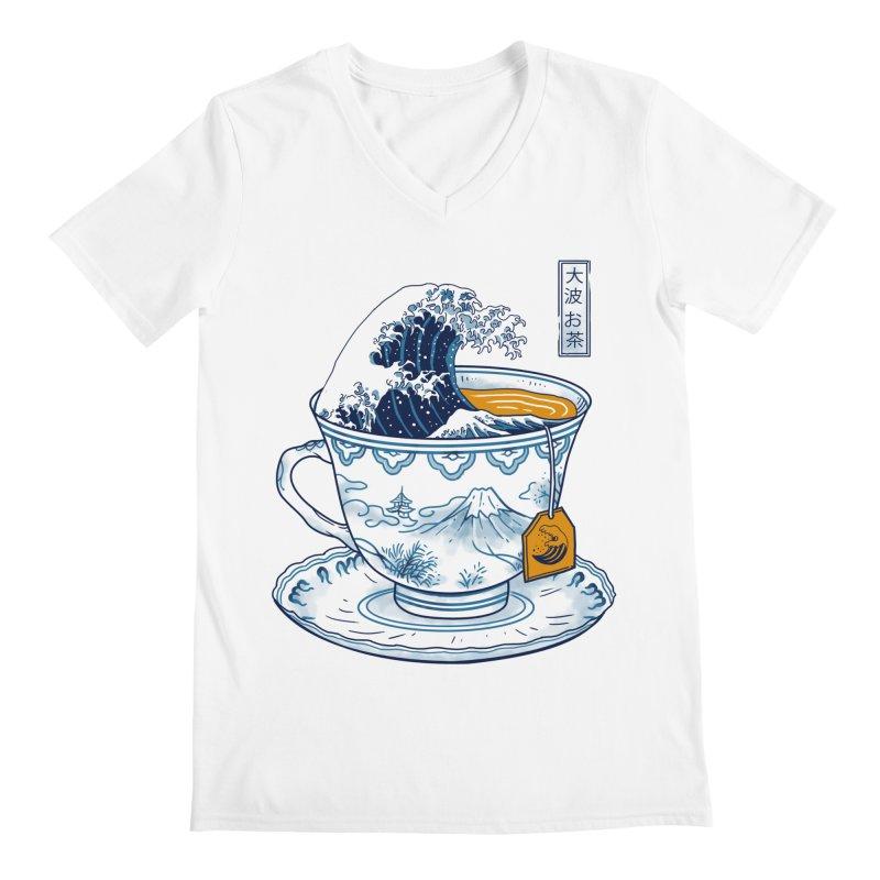 The Great Kanagawa Tee Men's V-Neck by Vincent Trinidad Art