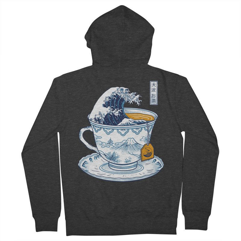 The Great Kanagawa Tee Men's French Terry Zip-Up Hoody by vincenttrinidad's Artist Shop
