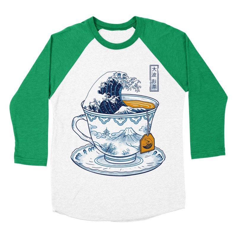 The Great Kanagawa Tee Men's Baseball Triblend Longsleeve T-Shirt by Vincent Trinidad