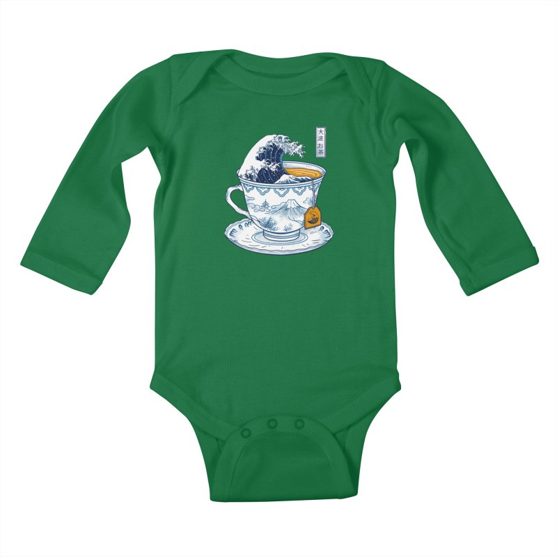 The Great Kanagawa Tee Kids Baby Longsleeve Bodysuit by vincenttrinidad's Artist Shop
