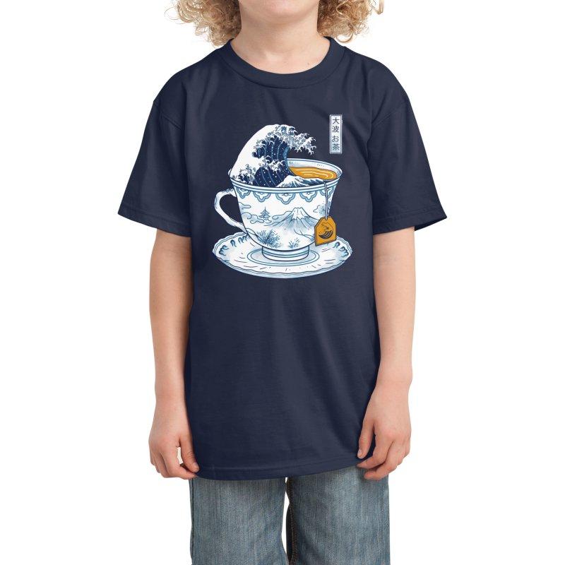 The Great Kanagawa Tee Kids T-Shirt by Vincent Trinidad Art