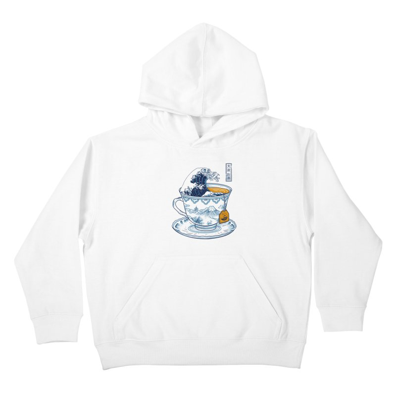 The Great Kanagawa Tee Kids Pullover Hoody by vincenttrinidad's Artist Shop