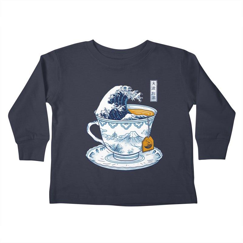 The Great Kanagawa Tee Kids Toddler Longsleeve T-Shirt by vincenttrinidad's Artist Shop