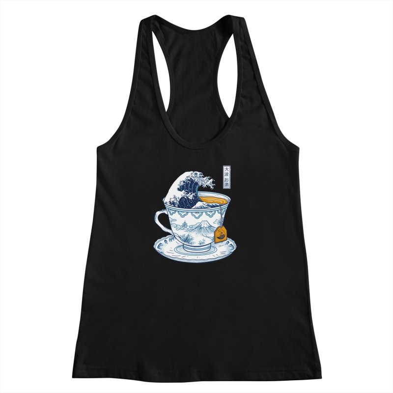 The Great Kanagawa Tee Women's Racerback Tank by Vincent Trinidad