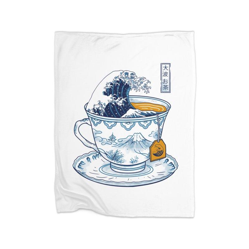 The Great Kanagawa Tee Home Blanket by vincenttrinidad's Artist Shop