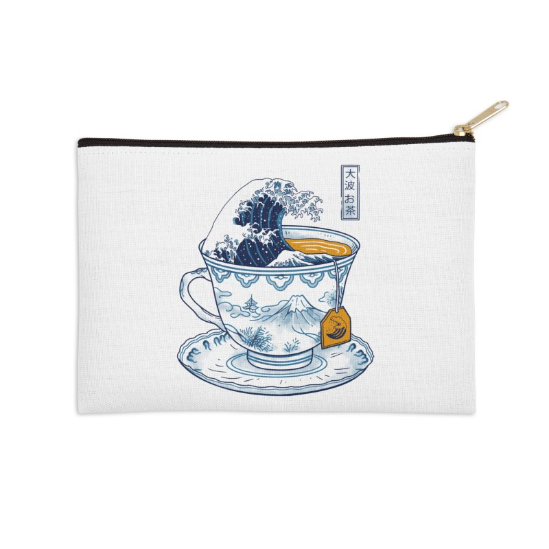 The Great Kanagawa Tee Accessories Zip Pouch by Vincent Trinidad Art