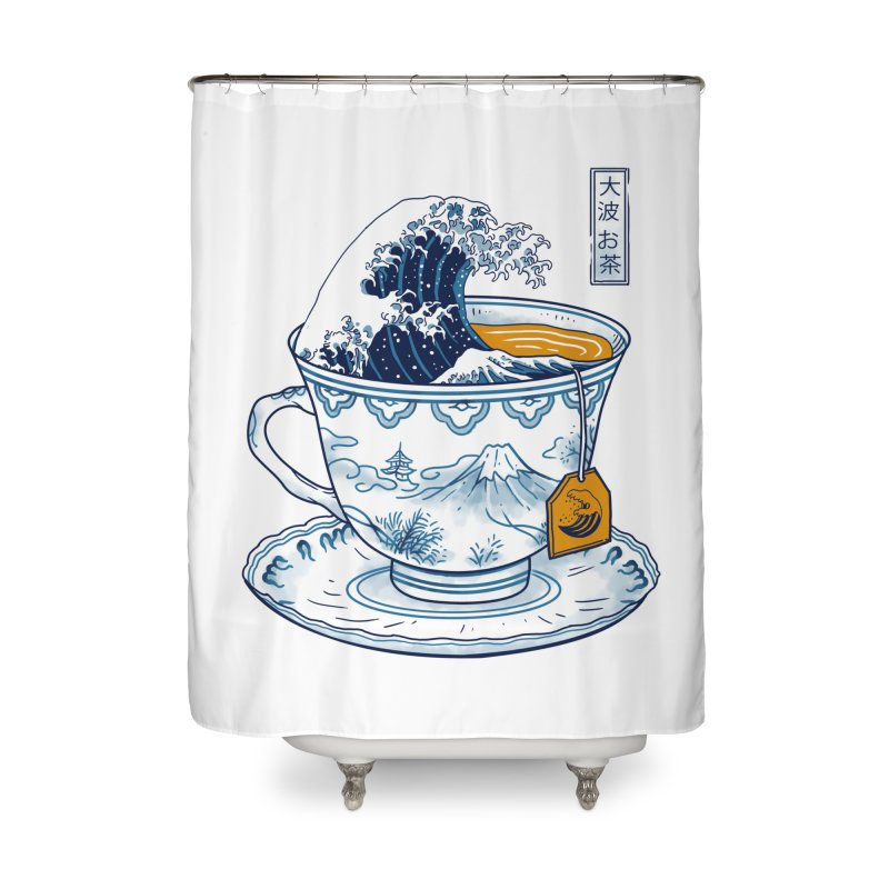 The Great Kanagawa Tee Home Shower Curtain by vincenttrinidad's Artist Shop