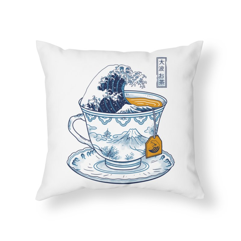 The Great Kanagawa Tee Home Throw Pillow by Vincent Trinidad Art