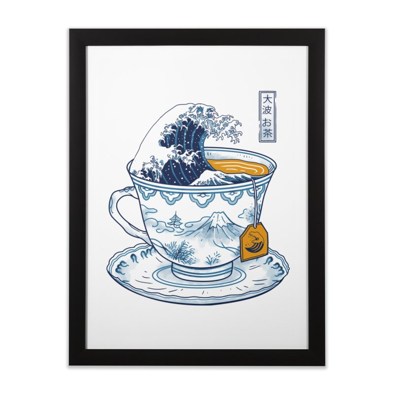 The Great Kanagawa Tee Home Framed Fine Art Print by vincenttrinidad's Artist Shop