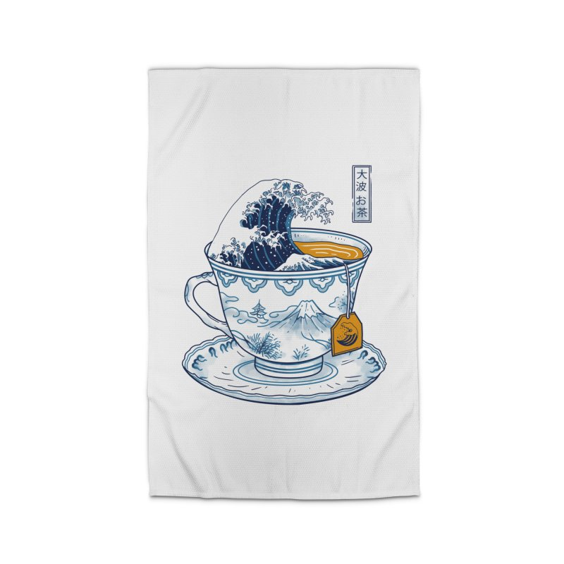 The Great Kanagawa Tee Home Rug by Vincent Trinidad Art