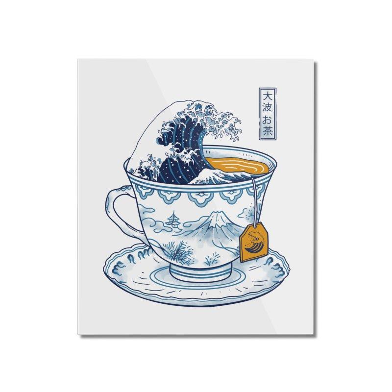 The Great Kanagawa Tee Home Mounted Acrylic Print by vincenttrinidad's Artist Shop