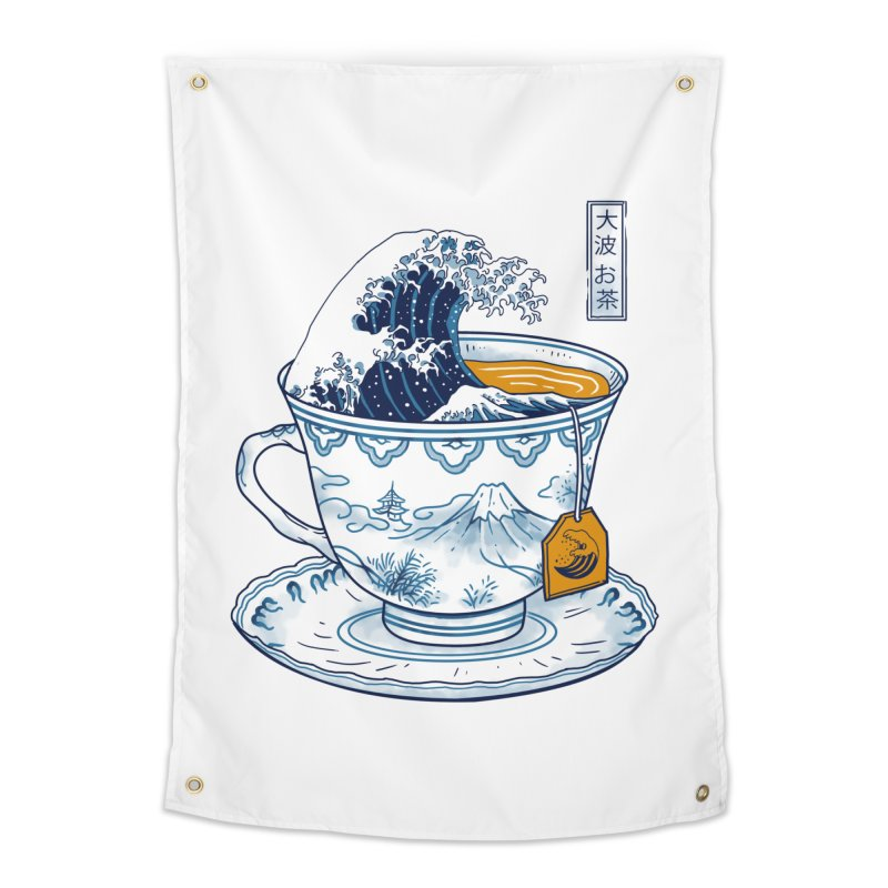 The Great Kanagawa Tee Home Tapestry by vincenttrinidad's Artist Shop
