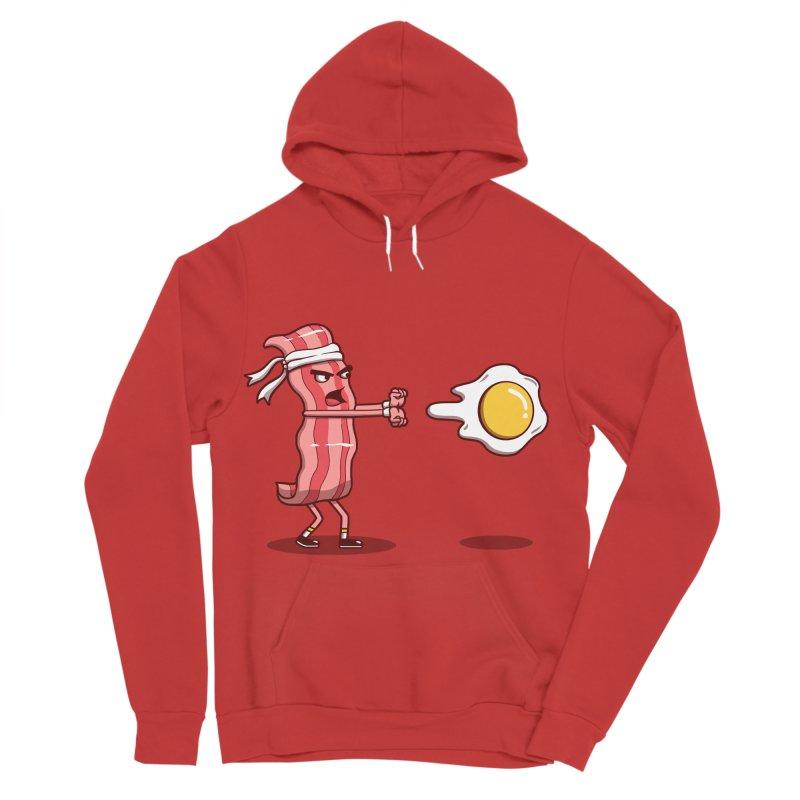 Bacon Fighter Men's Sponge Fleece Pullover Hoody by vincenttrinidad's Artist Shop