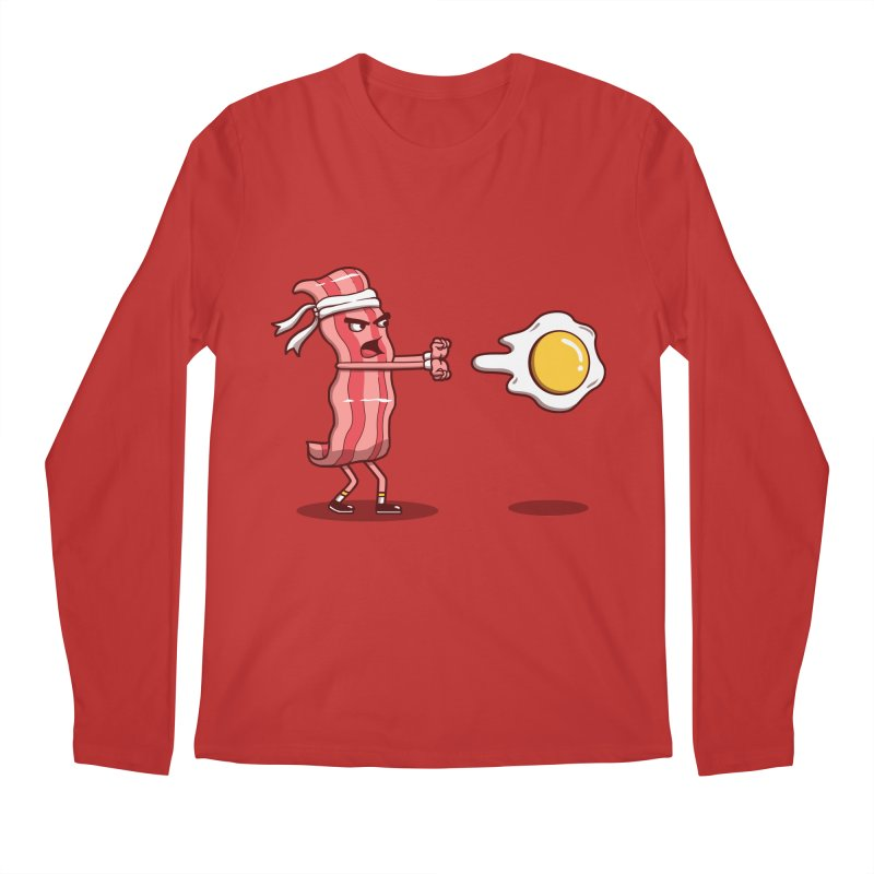 Bacon Fighter Men's Longsleeve T-Shirt by Vincent Trinidad Art