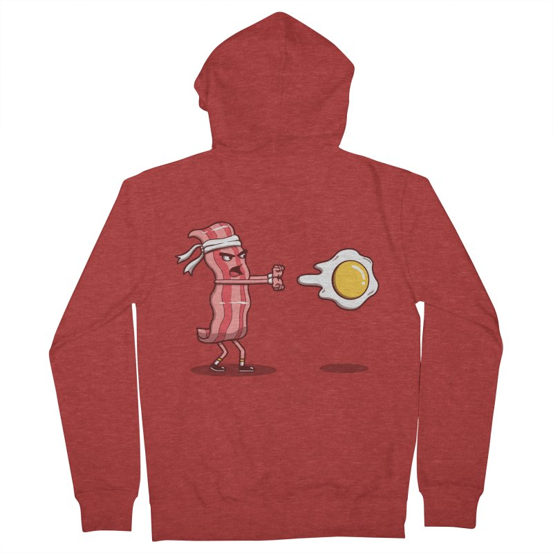 Bacon Fighter Men's French Terry Zip-Up Hoody by vincenttrinidad's Artist Shop