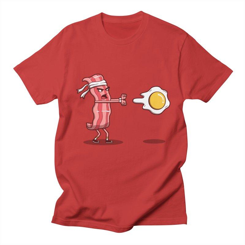 Bacon Fighter Men's Regular T-Shirt by vincenttrinidad's Artist Shop