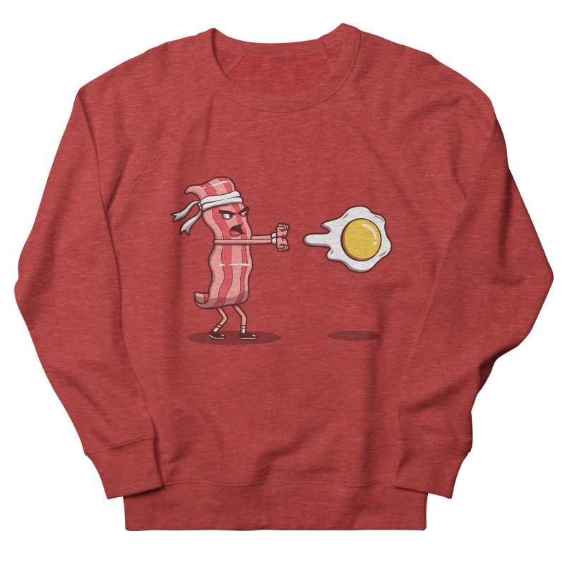 Bacon Fighter Women's French Terry Sweatshirt by vincenttrinidad's Artist Shop