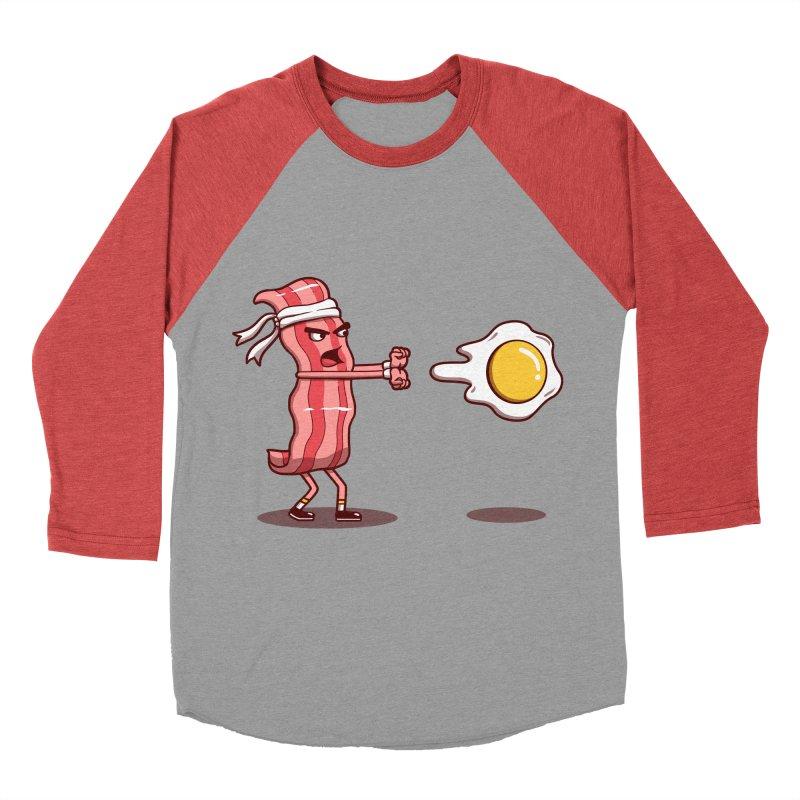 Bacon Fighter Women's Baseball Triblend Longsleeve T-Shirt by vincenttrinidad's Artist Shop