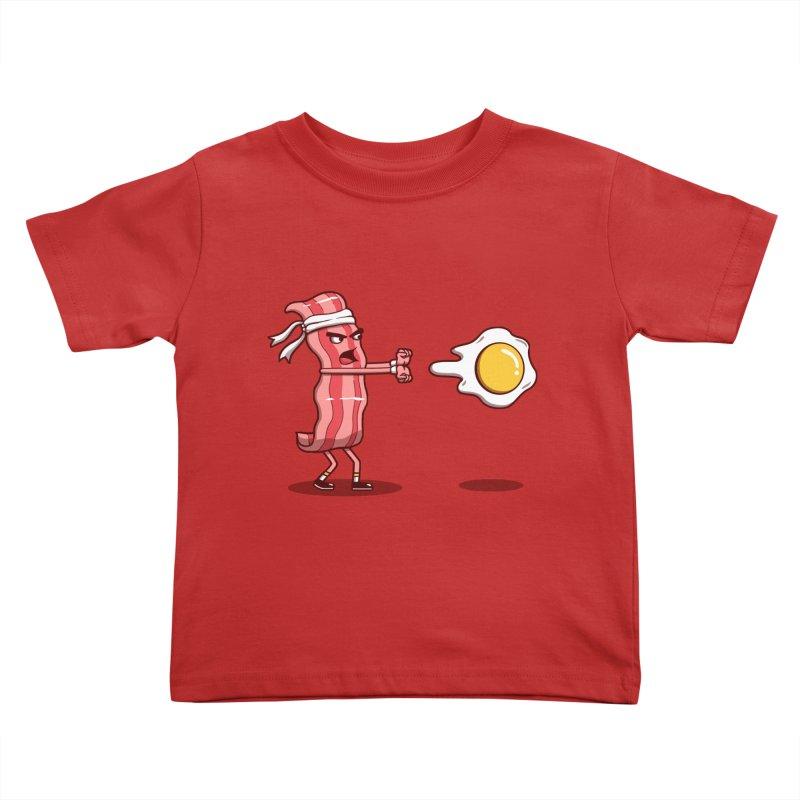 Bacon Fighter Kids Toddler T-Shirt by vincenttrinidad's Artist Shop