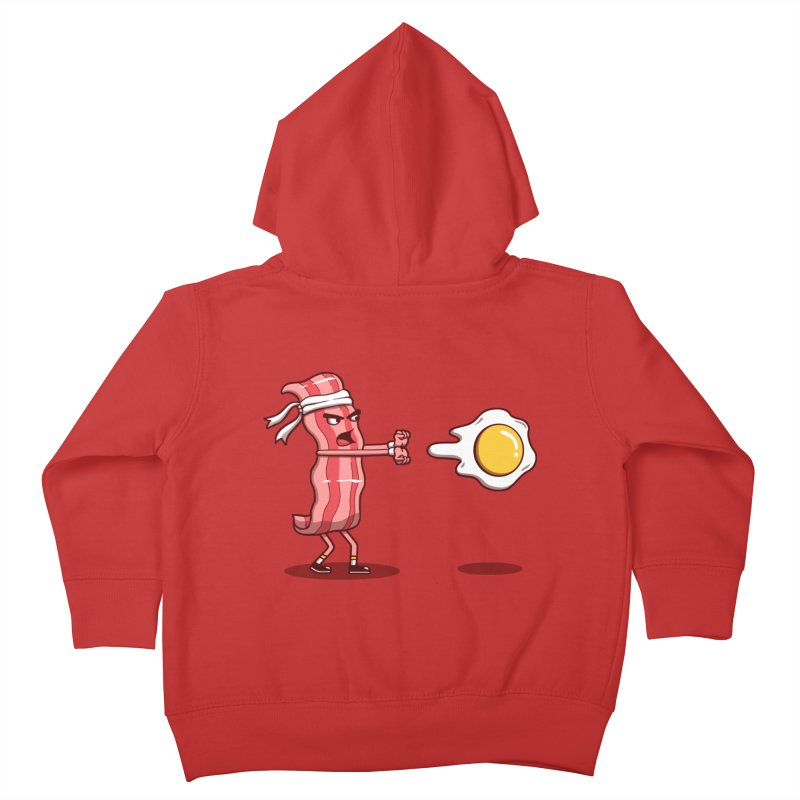 Bacon Fighter Kids Toddler Zip-Up Hoody by vincenttrinidad's Artist Shop