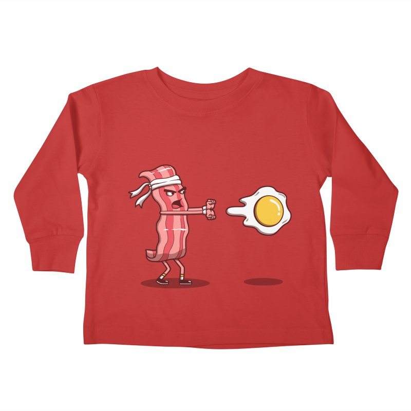 Bacon Fighter Kids Toddler Longsleeve T-Shirt by vincenttrinidad's Artist Shop