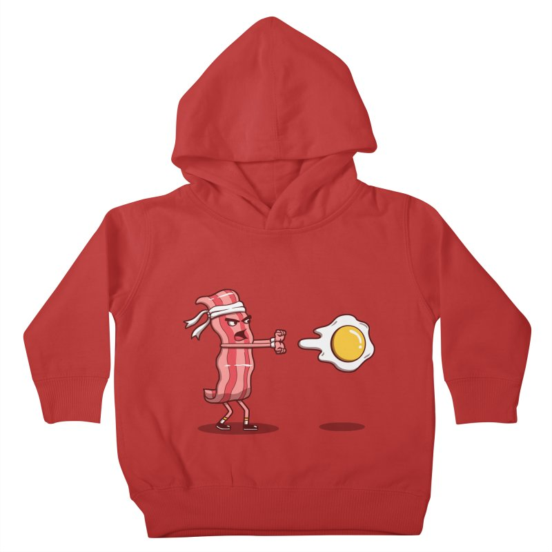 Bacon Fighter Kids Toddler Pullover Hoody by vincenttrinidad's Artist Shop