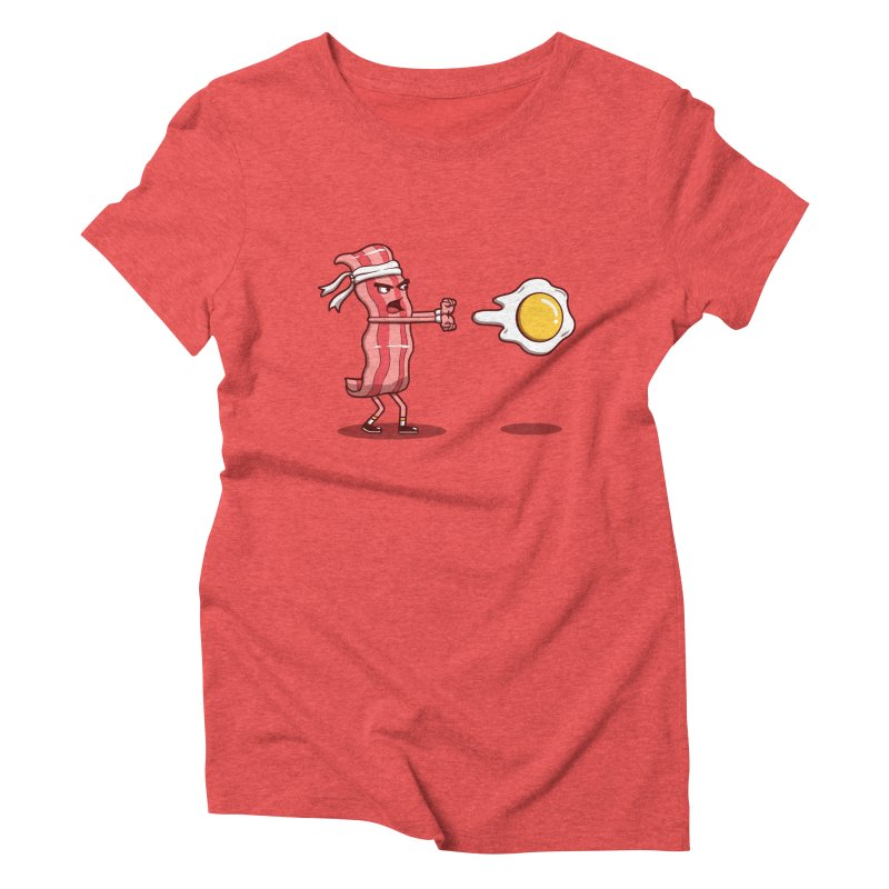 Bacon Fighter Women's Triblend T-Shirt by vincenttrinidad's Artist Shop