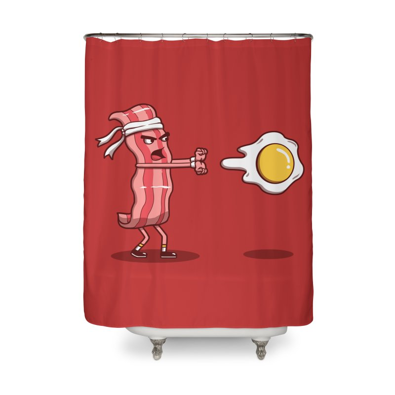 Bacon Fighter Home Shower Curtain by vincenttrinidad's Artist Shop