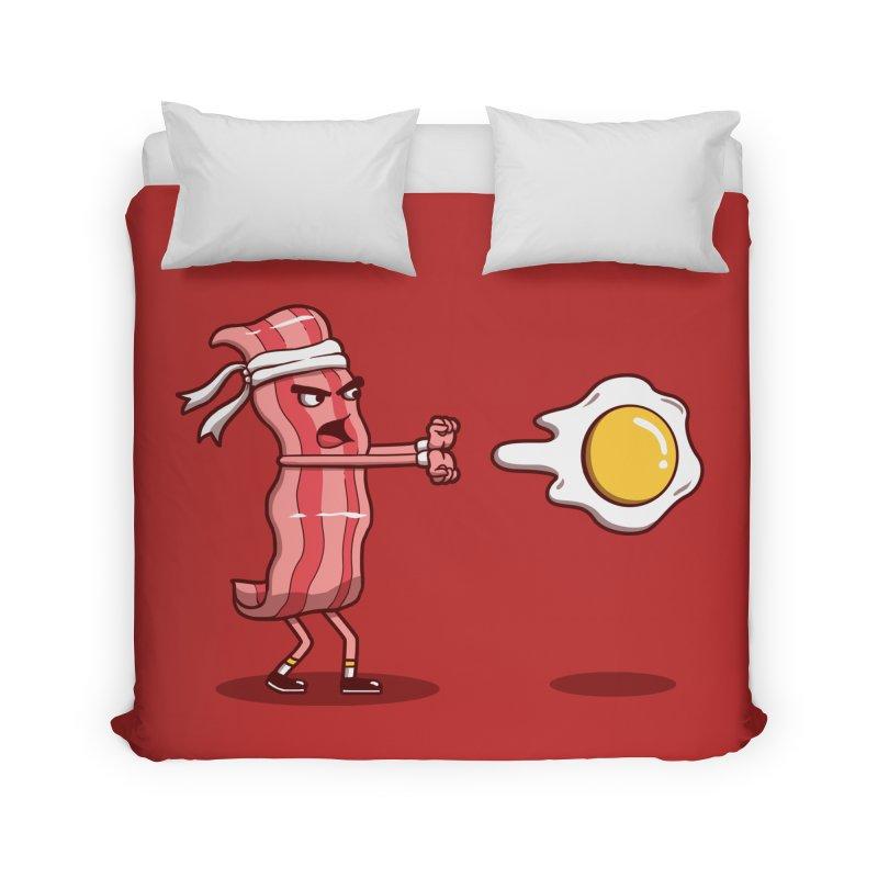 Bacon Fighter Home Duvet by vincenttrinidad's Artist Shop