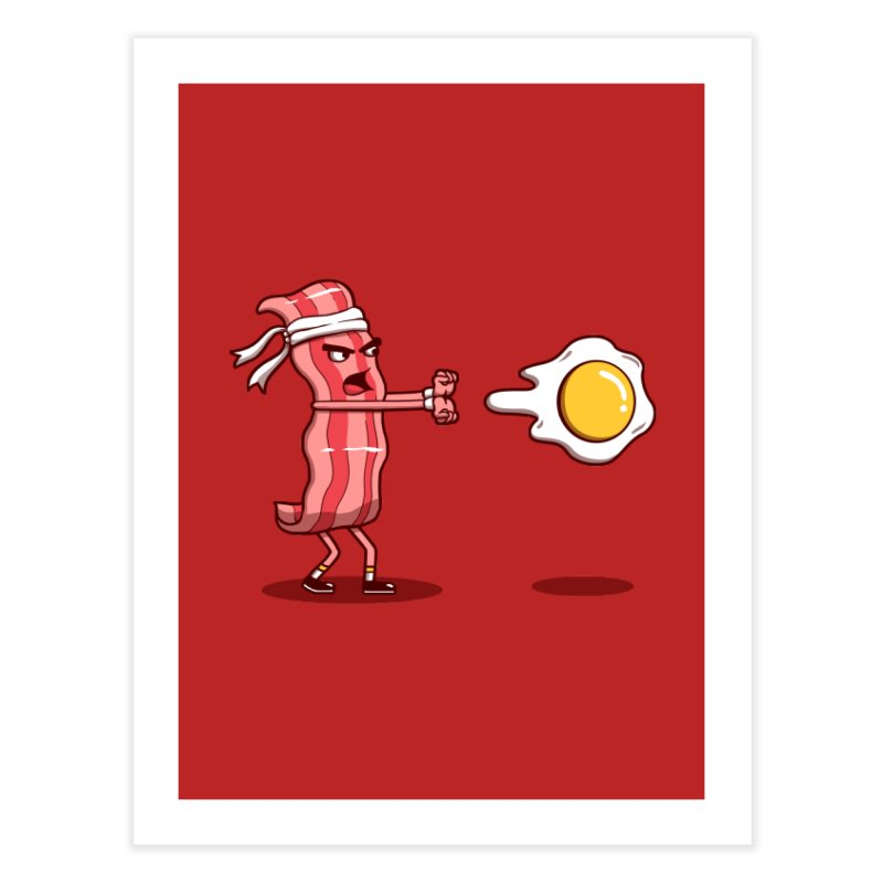 Bacon Fighter Home Fine Art Print by vincenttrinidad's Artist Shop