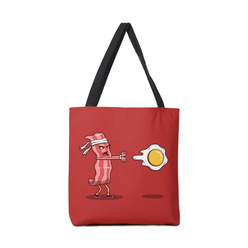 Bacon Fighter Accessories Bag by vincenttrinidad's Artist Shop