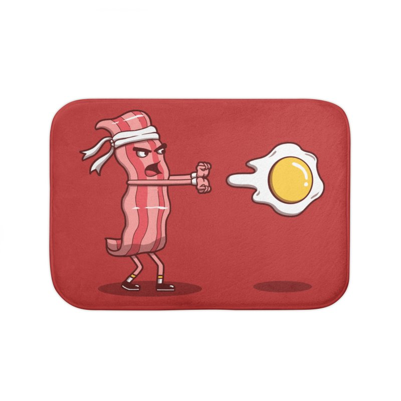 Bacon Fighter Home Bath Mat by vincenttrinidad's Artist Shop