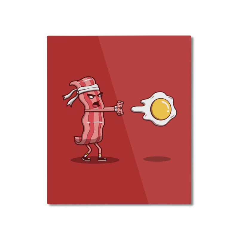Bacon Fighter Home Mounted Aluminum Print by vincenttrinidad's Artist Shop