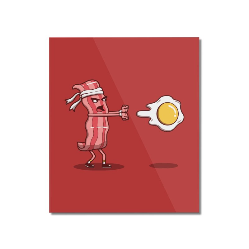 Bacon Fighter Home Mounted Acrylic Print by vincenttrinidad's Artist Shop