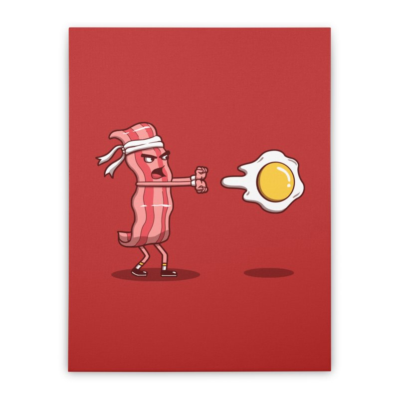 Bacon Fighter Home Stretched Canvas by vincenttrinidad's Artist Shop