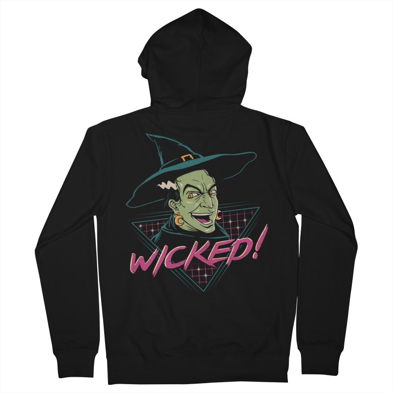 Wicked Witch Men's French Terry Zip-Up Hoody by vincenttrinidad's Artist Shop