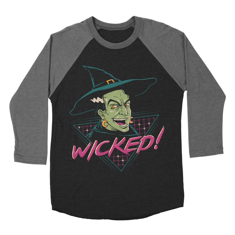 Wicked Witch Men's Baseball Triblend Longsleeve T-Shirt by Vincent Trinidad