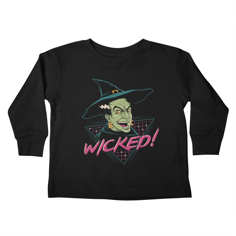 Wicked Witch Kids Toddler Longsleeve T-Shirt by vincenttrinidad's Artist Shop