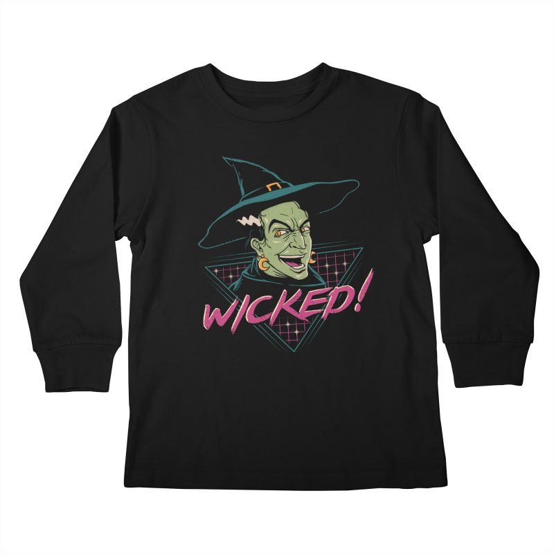 Wicked Witch Kids Longsleeve T-Shirt by vincenttrinidad's Artist Shop