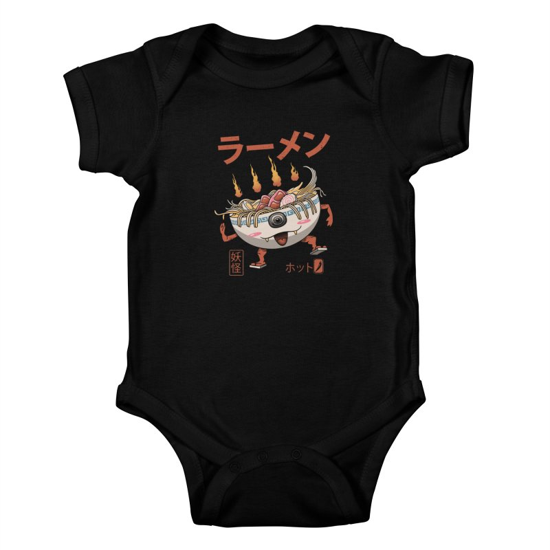 Yokai Ramen Kids Baby Bodysuit by vincenttrinidad's Artist Shop