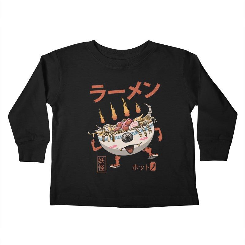 Yokai Ramen Kids Toddler Longsleeve T-Shirt by vincenttrinidad's Artist Shop